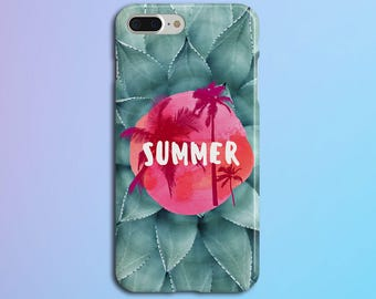 Tie Dye Summer Party x California Palms Phone Case, iPhone X, iPhone 8 Plus, Rubber iPhone Case, Galaxy s8, Google Pixel 2, Summer Party