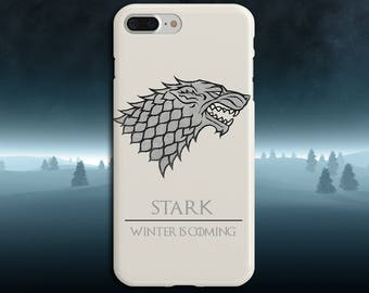 Stark x Winter is Coming x Game of Thrones Phone Case iPhone X, iPhone 8 Plus, Tough iPhone Case, Galaxy s8, Samsung Galaxy Case, Jon Snow