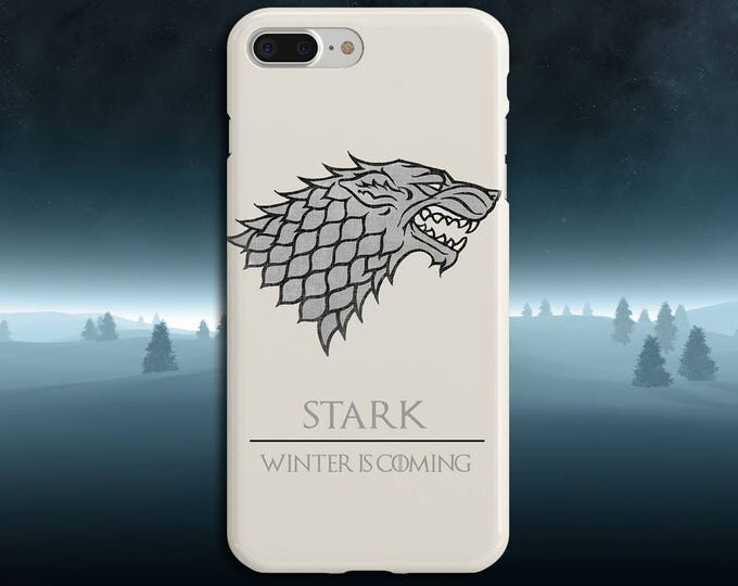 Featured listing image: Stark x Winter is Coming x Game of Thrones Phone Case iPhone 7, iPhone 7 Plus, Tough iPhone Case, Galaxy s8, Samsung Galaxy Case, Jon Snow