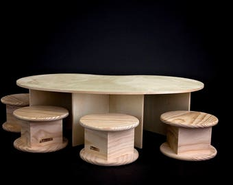 Toddler Table with 4 Stools -- Sturdy and Toddler-Tested!   Package Discount