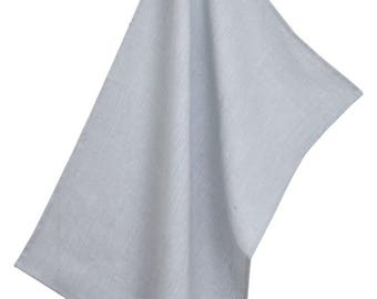 50x70cm 100% grey linen Tea towel