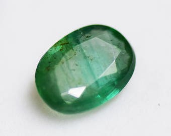 Natural 1.90 Ct Emerald Oval Cut Shape, 10*7 MM Loose Gemstone, Good Quality Birthstone, Astral Gem 019