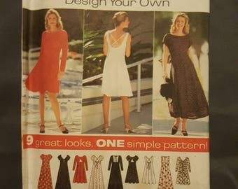 Simplicity Dress Pattern Size P 12, 14, 16  7237