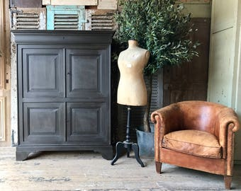 Vintage French rustic TV cabinet