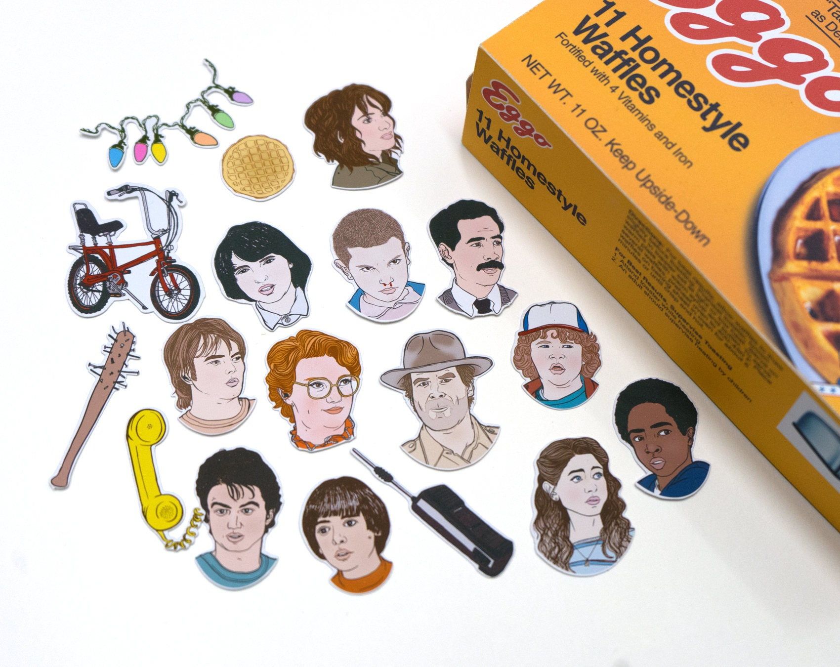 Stranger Things Stickers & Magnets vinyl stickers fridge