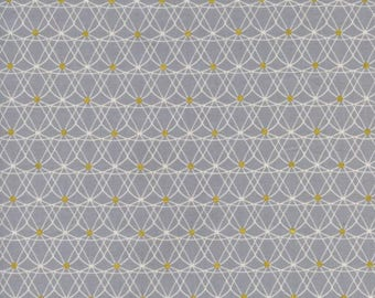Crinlone Grey (Metallic) - Jubilee by Cotton + Steel Cotton Fabric Fat Quarter