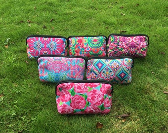 COSMETIC BAG Lilly Pulitzer inspired Clutch Bag Pouch