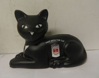 1981 Union Carbide Eveready Save With The Cat Black Cat Bank