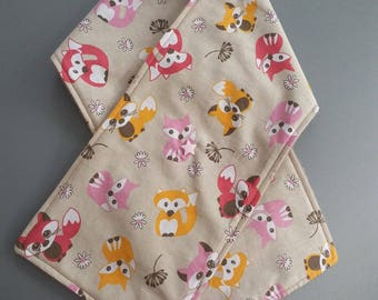fabric and fleece scarf for baby