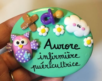 OWL personalized infirmiete badge and cloud