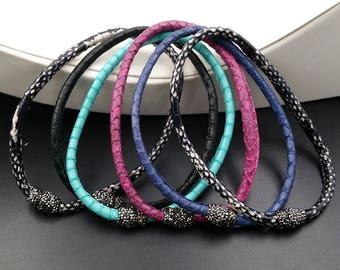 WT-RB005 Popular Leather Bracelet Multiple ColorS Charm Bracelet Special Leather Bracelet Gift For Her