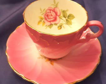 Vintage Stanley pink cup and saucer