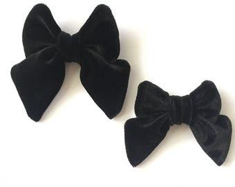 Black Velvet Hair Bow, Velvet Bow, Black Velvet, Hair Bow, Bow