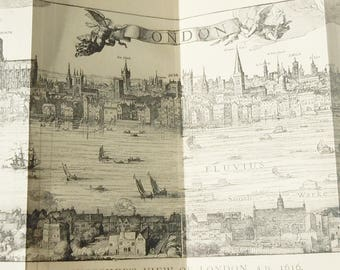 Medieval Cities / London / 1918 / 2 Foldaway Diagrams within a small book / London Antique Drawings and History