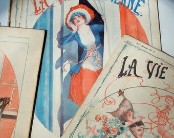 French Magazines from 1919 / Le Vie Parisienne / Young Girls Guide to the Paris Life / 8 Issues