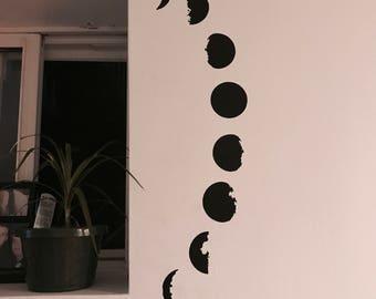 Moon Phase Wall Vinyl