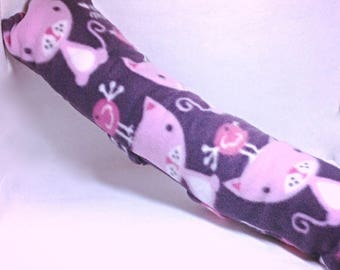 Pink Cat Seatbelt Pillow/Travel Pillow.  Attach to seat belt to keep in place and keep the kinks out of those necks