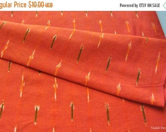 ON SALE Discount fabric Orange Ikat fabric Traditional Indian Ikat fabric by the yard