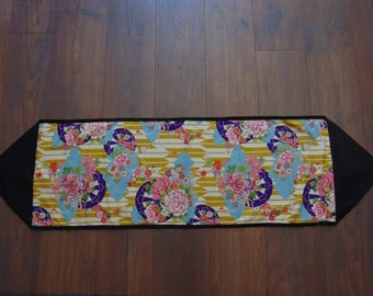 Table Runner with Beautiful Japanese fabric.  Table decor