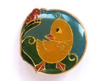 Duckling, Vintage metal collectible badge, Brooch, Soviet Vintage Pin, Vintage Badge, Made in USSR, 1980s