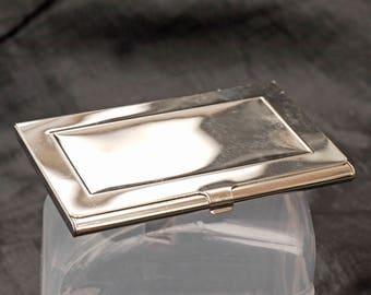 Chrome  Slimline Vintage Cigarette case.
