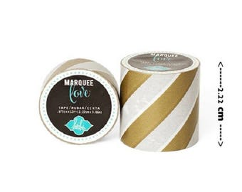 Masking tape / Washi tape fantasy - gold and white