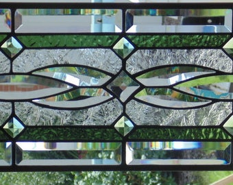 """Stained Glass Window Hanging  28 x 9 1/2"""""""