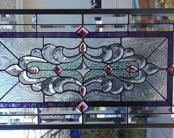 Stained Glass Window Hanging 30 1/2  X 16 1/2