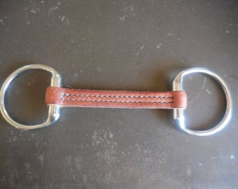 Leather Eggbutt Snaffle Bit