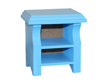 Blue Nightstand, AG Doll Furniture, 18 inch Doll Furniture, 18 inch Nightstand, AG Nightstand