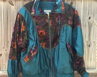 one of a kind floral windbreaker