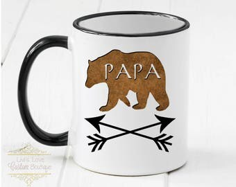 Papa Bear Mug  - Dad Gift - Gift for Dad from kids - Father's Day Gift - Daddy Bear Cups - Dad Coffee Cup Dishwasher Safe - Microwave Safe