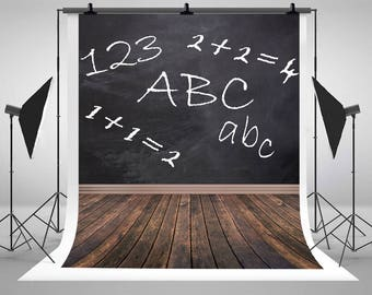 Back to School Season Children Photography Backdrops Newborn Baby Black Blackboard  Photo Backgrounds for Student Studio Props