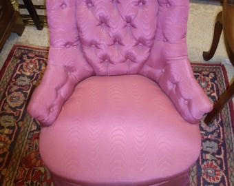 Antique French style button upholstered boudoir or salon chair
