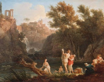 Claude-Joseph Vernet: The Four Times of Day - Evening. Fine Art Print/Poster (004505)