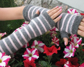 Cashmere   arm warmers - Fingerless gloves - wrist warmers