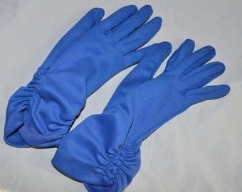 ON SALE: Cute Vintage Gloves - Ladies', Dark Blue, Gathered Wrists, Size 6 - 7