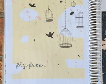 FLIGHT + FREEDOM: Personalized Monthly or Weekly Planner/Agenda/Organizer with Custom Dates OR Create + Color Journal/Notebook, Custom Pages