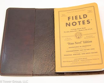 Field Notes Dime Novel/Signature Cover - Horween Leather - Dark Brown