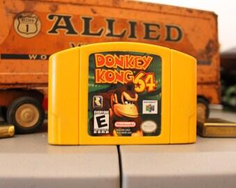 Nintendo 64 Donkey Kong(Yellow CASE)!! GREAT DEAL!!