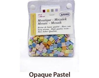 Resin - color mosaic tesserae Opaque Pastel