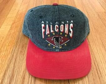 Vintage 90s Atlanta Falcons Starter Denim The Classic Acid Wash Snapback Hat
