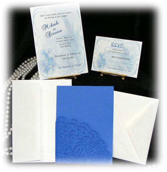 "The Mikah ""WEDDING INVITATIONS PLUS"" See Price List Inside"