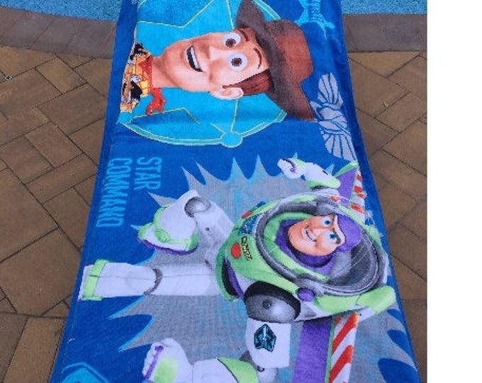 """Oversized 30"""" x 60"""" Toy Story Beach Towel - Personalized Beach Towel"""
