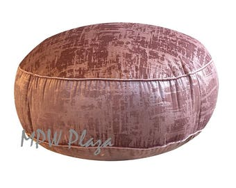 NEW COLLECTION-Velvet  Moroccan Pouf/Ottoman (Cherry Blossom)
