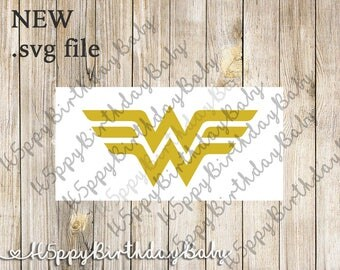 WONDER WOMAN Logo*** .svg File for use with Cricut / Silhouette...etc