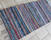 Woven Wool Rag Rug Runner, Pendleton Wool Rag Rug, Hall Throw Rug, Kitchen Rug, Pet Rug, Farmhouse Decor Rug, Sun Porch Rag Rug, Modern Rug