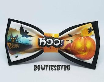 Handmade Halloween Bow Tie Orange