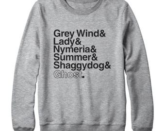 Game of Thrones Houses Tees Grey Wind Lady Nymeria Summer Shaddy Dog Ghost Shirt Family Gift Game Of Thrones Sweatshirt Oversized Sweatshirt