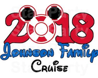 PRINTABLE Disney Cruise Magnet or Disney Cruise Family Shirts PDF